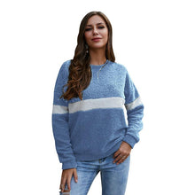 Load image into Gallery viewer, Fleece Striped Patchwork Warm Sweatshirt (4369733288076)