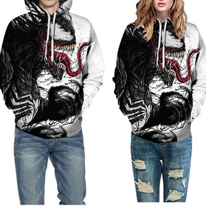 Loose Printed Hoodies Casual Wear (4369734107276)