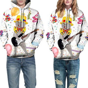 Couple Printed Hoodies Loose Sportswear (4369733845132)