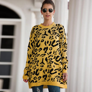 Leopard Printed Sweater Long sleeve (4369712414860)