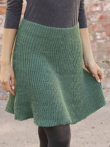 Green Casual Knitted Skirts