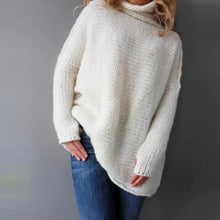 Load image into Gallery viewer, Plain High Neck Women Sweater (4369712119948)