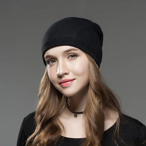 Warm Casual Fox Fur Winter Hat (4369618534540)