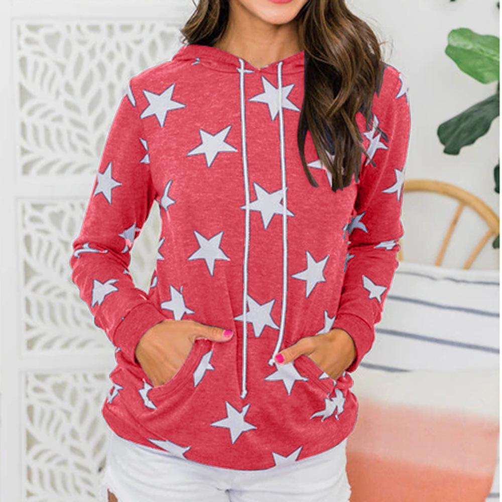Star Printed Pullovers Sweater & Hoodies (4369724506252)