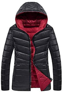 Womens Reversible Quilted Puffer Down Jacket Water-Resistant Hooded Winter Outerwear (4365973160076)