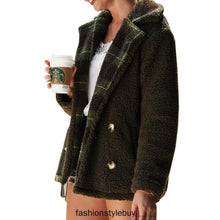 Load image into Gallery viewer, Autumn Plush Coat Classic Fold Over Collar Outerwear (4369626759308)