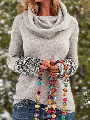 Tribal Vintage Cowl Neck Tops