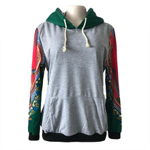 Load image into Gallery viewer, Women Drawstring Plaid Patchwork Hoodies (4369732698252)