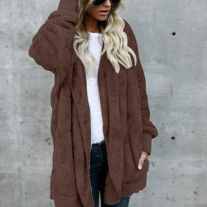 Mid-length Plush Warm Coat Windproof (4370035245196)