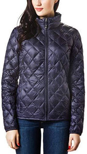 Women Packable Down Quilted Jacket Lightweight Puffer Coat (4365972799628)