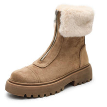 Load image into Gallery viewer, Women Warm Winter Zipper Flat Boots (4369979572364)