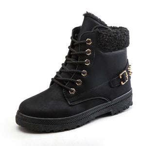 Large Size Plus Velvet Rivets Warm Boots (4369976393868)