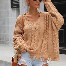 Load image into Gallery viewer, Solid Color Loose Irregular Casual Sweater (4369646715020)