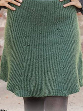 Load image into Gallery viewer, Green Casual Knitted Skirts