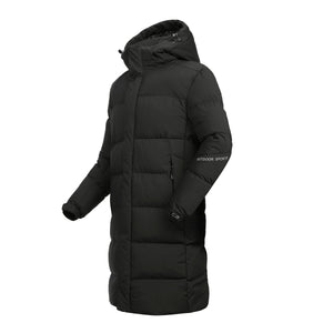 Warm Think Windproof Long Hooded Down Coat (4369999233164)