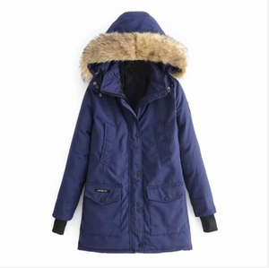Women Warm Thick Winter Hooded Parka Coat (4369210409100)