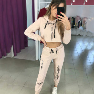 Printed Hoodies Pants Two-piece Set (4369740202124)
