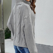 Load image into Gallery viewer, Ladies Casual Loose Plain High Neck Sweater (4369647403148)