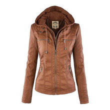 Load image into Gallery viewer, Women Casual Coats Plus Size PU Jackets(S-5XL) (4369622433932)