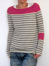 Load image into Gallery viewer, Plus Size Women Striped Color-block Casual Knitted Tops
