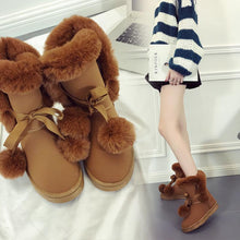 Load image into Gallery viewer, Plush Fur Ball Short Women Boots (4369976918156)