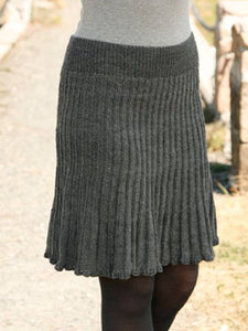 Gray Casual Cotton-Blend Skirts