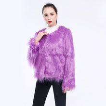Load image into Gallery viewer, Washable Faux fur Coat Multi Color (4369626136716)