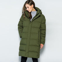 Load image into Gallery viewer, Warm Think Windproof Long Hooded Down Coat (4369999233164)