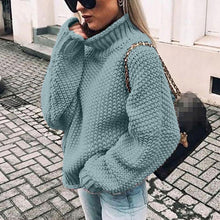 Load image into Gallery viewer, Casual Turtleneck Knitted Sweater Solid Color (4369646616716)