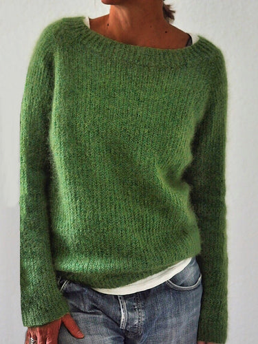 Solid Knitted Sweaters Pullovers Jumpers