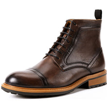 Load image into Gallery viewer, Men Martin Boots Genuine Leather British Retro Style Shoes (4369980784780)
