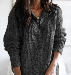 Casual Cotton-Blend Sweater