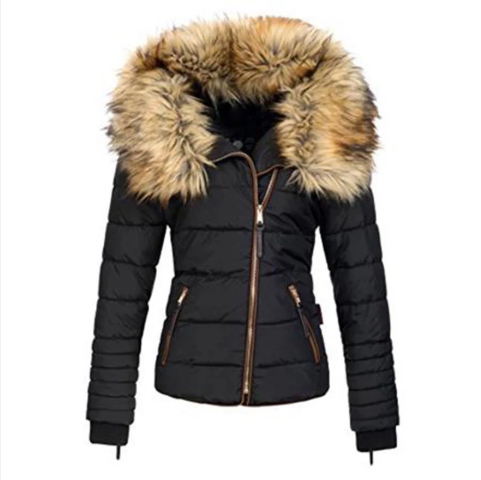Women Casual Plus Size Warm Winter Coat (4369185177740)
