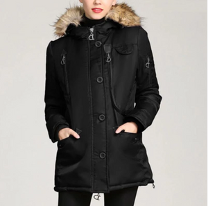 Women Casual Hooded Thick Warm Winter Coat (4369233313932)