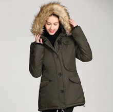 Load image into Gallery viewer, Women Casual Hooded Thick Warm Winter Coat (4369233313932)