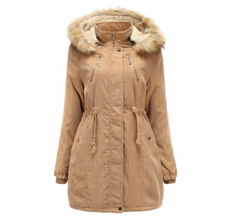 Women Hooded Winter Warm Parkas Thick Coat (4369234985100)