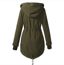 Load image into Gallery viewer, Women Winter Solid Thick Hooded Coat (4369240293516)
