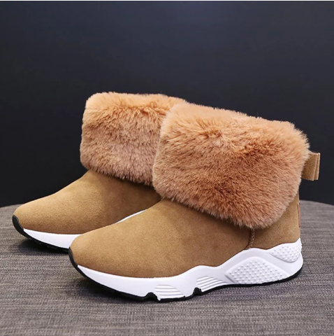 Women Waterproof Boots Keep Warm Thick Fur Heels (4369241112716)