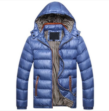 Load image into Gallery viewer, Men Thermal Coat Outwear Thick Parkas Plus Size 5XL (4369267425420)