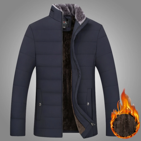 Warm Thick Men Jacket Stand Collar Parkas (4369269555340)