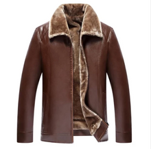Load image into Gallery viewer, Men Fur Leather Suede Jacket Plus Size 5XL (4369553490060)