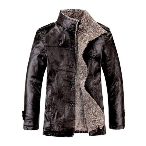 Winter PU Leather Casual Men Jackets(M-4XL) (4369571741836)