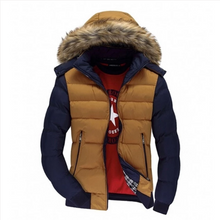 Load image into Gallery viewer, Men Winter Jackets Thick Hooded Fur Collar S-7XL (4369574756492)
