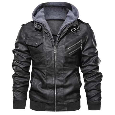 Men Autumn Winter Hooded Coats Jacket 4XL (4369613488268)