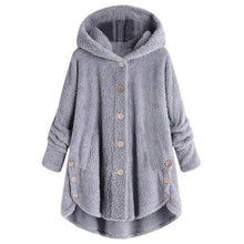 Load image into Gallery viewer, Irregular Plush Hooded Sweatshirt Solid Color (4369724604556)