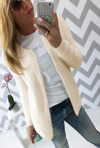 Fashion Women Short Cardigan Knit Sweater (4369640718476)