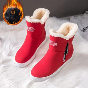 Women Middle Tube Cotton Snow Boots (4369963417740)