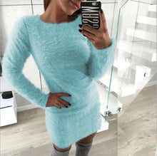 Load image into Gallery viewer, Women Round Neck Warm Long Sweater (4369720148108)