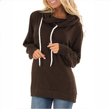 Load image into Gallery viewer, Women Solid Color Drawstring Hoodies (4369725128844)