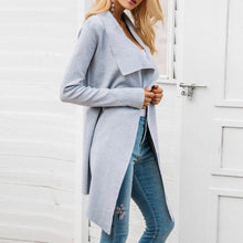 Load image into Gallery viewer, Women Slim-Fit Trench Coat Woolen Cardigan (4370040258700)